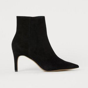 H&M Pointed Toe Black Ankle Boots